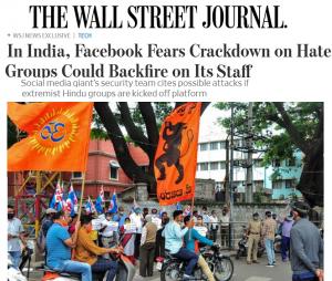 The Wall Street Journal : Facebook + Bajrang Dal
