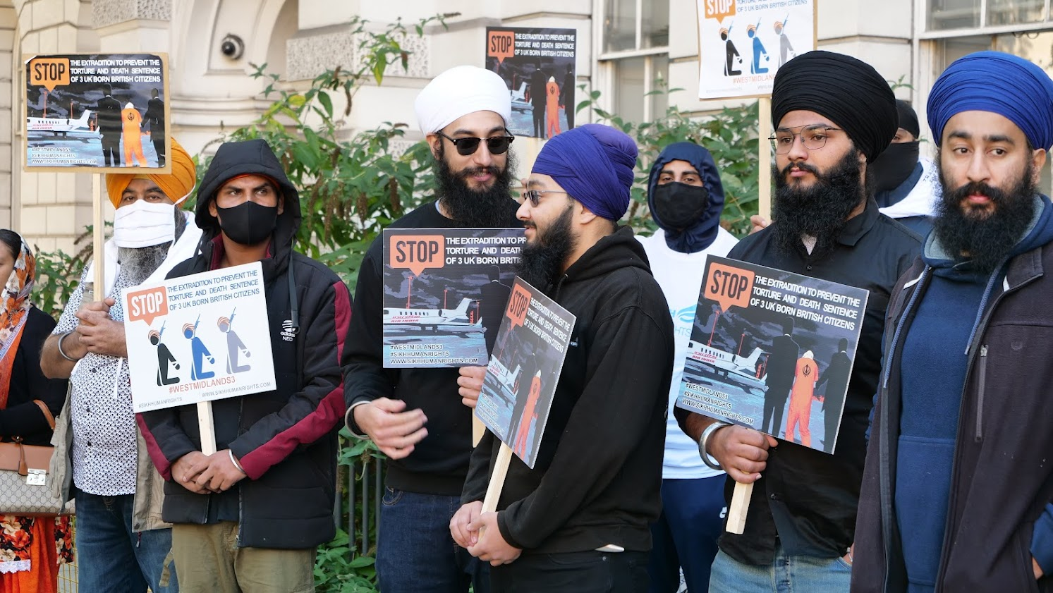 Sikhs Protesting Outside Westminster Magistrates Court